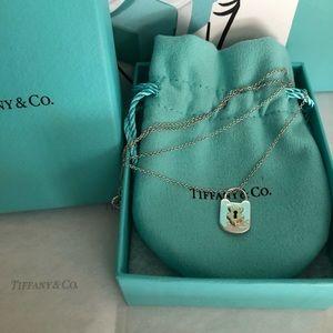 Tiffany & Co. Mini Hammered Lock Necklace